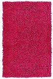 Lashuma Duschvorleger Chenille pink - Fuchsia | Teppich fürs Badezimmer | 100% Baumwolle | 50 x 80 cm