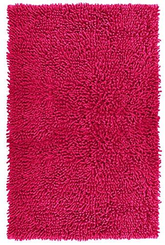 Lashuma Duschvorleger Chenille pink - Fuchsia | Teppich fürs Badezimmer | 100{7d5d890992e700018276b7945be272600b606489a3654a8588c9e874d6eab8e0} Baumwolle | 50 x 80 cm