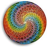 Psychedelischer Regenbogen - Spiralen - Mandala