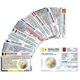 8 Münzkarten ohne Münze (8 Länder) von 2005 für 2-Euro Gedenkmünzen Größe: ca. 86 x 54 mm Karton ca. 350g/m