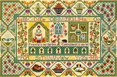 Bothy Threads Kit de broderie au point de croix kit–Moira Blackburn paisible Jardin Sampler xs11