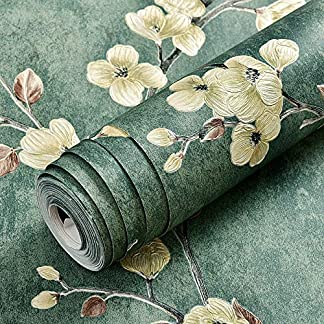 LZYMLG Papel pintado autoadhesivo no tejido retro nórdico dormitorio sala de estar pared papel pintado decorativo DIY engrosamiento impermeable