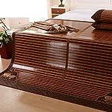 WENZHE Bambus Matratzen Sommer-Schlafmatten Strohmatte Teppiche Falten Doppelseitige Verwendung Zuhause Schlafzimmer Multifunktion Mit Kissenbezügen, 1,5/1,8 M (größe : 1.8×2.2m)