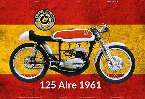 Bultaco 125 Aire 1961 Spanien motorrad blechschild (Bultaco Motorräder)