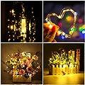 MAVIE 6 Pack LED Flaschen-Licht String Lichter Cork Form der LED Nacht Licht Weinflasche Flaschenlicht f¨¹r Hochzeit, Party, Romantische Deko (Warm Wei?) [Energieklasse A+++]