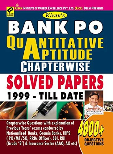 BANK PO QUANTITATIVE APTITUDE CHAPTERWISE SOLVED PAPERS 1999-TILL DATE 4800+OBJECTIVE QUESTION -ENGLISH