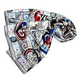 Lorenzo Cana Luxus Damen Seidentuch aufwändig bedruckt Tuch 100% Seide 110 cm x 110 cm harmonische Farben Damentuch Schaltuch 89043