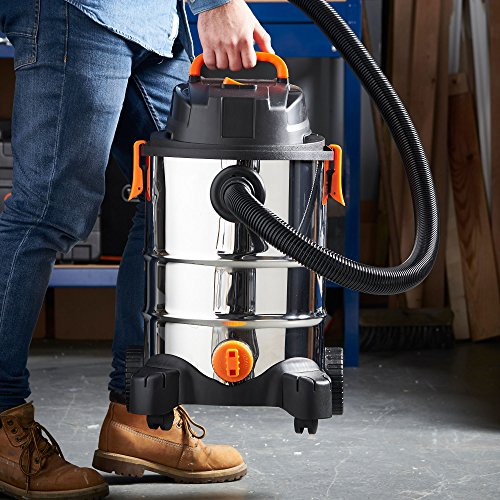 VonHaus 3 in 1 Wet and Dry Bagless 30L Vacuum Cleaner with Blower | 1250W | Powerful 17Kpa Suction | Large Capacity | Includes Floor Brush and Crevice Tool Img 3 Zoom