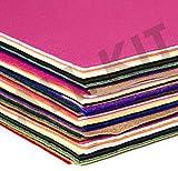 Bastelfilz 60 Filzplatten dekorativer Filzstoff DIN A4