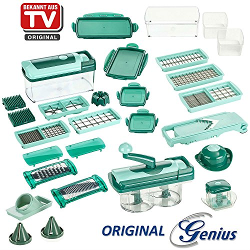 genius-nicer-dicer-fusion-julietti-set-de-34-pieces-vert-menthe-appareil-decoupe-legumes-et-decoupe-