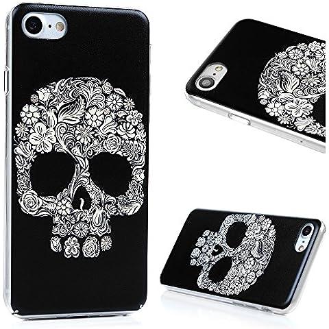 iPhone 7 Funda PC - MAXFE.CO Carcasa Rigida Dura Cover Case Ultrafina Transparente con el Dibujo de
