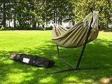Vivere Doppel Sunbrella Hängematte mit Hängemattengestell 280 cm, Limelight - 2