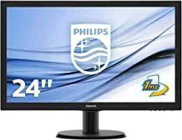 "Philips Monitor 243V5LHSB Gaming Monitor per PC Desktop 23.6"" LED Full HD, 1920 x 1080, 250 cd/m², 1 ms, HDMI, DVI, VGA,..."