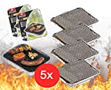 5x desechables Barbacoa Parrilla de aluminio a barbacoas aluminio carcasa con carbón picnic barbacoa Carbón vegetal Barbacoa Barbacoa Carbón