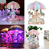 Gulin Merry-Go-Round Music Box, Lavany Christmas Birthday Gift Carousel , Colore Ramdom