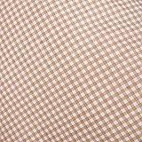 Hans-Textil-Shop Stoff Meterware, Karo 3x3 mm, Beige, Baumwolle