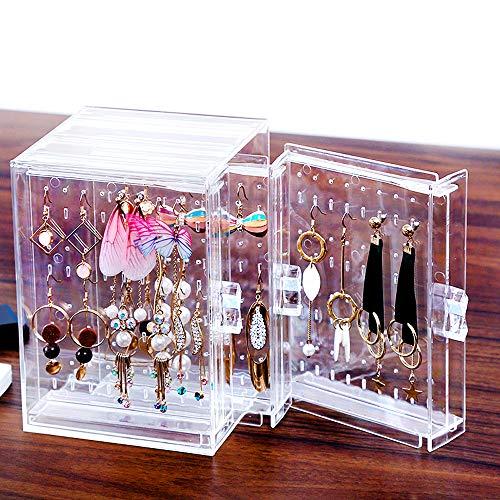 Llyy stand di gioielli espositori braccialetti/collane -espositore porta/orecchini/collane/orecchini con 3-cassetti trasparente 216- buche/espositori