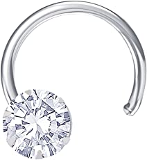Peora Sterling-Silver Stud Nose Ring For Women