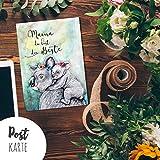 A6 Muttertagskarte Postkarte Print Koala Mama & Kind mit Spruch ...du bist die Beste pk183 ilka parey wandtattoo-welt®