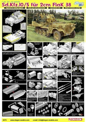 Dragon - D6676 - Maquette Maquette Maquette - Flak 38 SDKFZ 10/5 - Echelle 1:35 | Simple D'utilisation  3d7a85