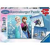 Ravensburger Puzzle Frozen - Puzzle 3 x 49 piezas, para niños 5+ años (09264 2)