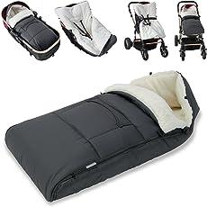 Monzana® Babyfußsack Baby Fußsack Winterfußsack Babyschale Kuschelsack Babydecke Kinderwagen ✔waschbar ✔Nässe- und Kälteschutz ✔anpassbare Kaputze ✔ verschiedene Farben ✔ 5 Punkt Gurt geeignet zum anbringen an Kindersitz.