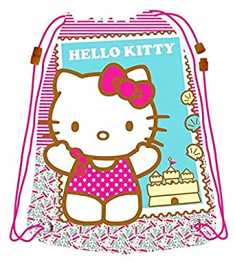 Sac à dos imperméable sport et piscine enfant fille Hello kitty rose 44x32cm