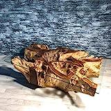 Möbel Bressmer Unikat Wurzelholz Couchtisch NAGA Ink. Glasplatte 120x75cm Handarbeit | Wurzeltisch Massivholz aus echtem Teak Wurzel Stock| Design Wohnzimmertisch