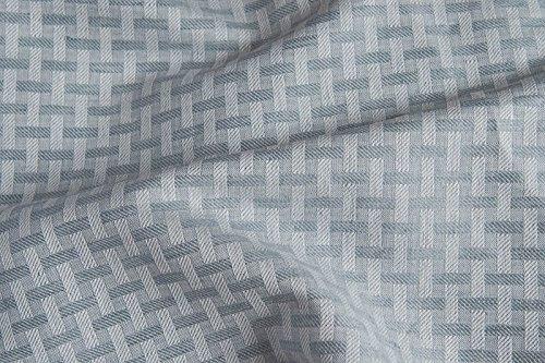 Bläuliches grau gestreift Leinen & Baumwolle-Mischgewebe Stoff Meterware–210gsm Textil–gewebt in Nordeuropa (Diagonal-streifen-schal)