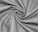 Wollfilz, Meterware ab 0,5 m, Bastelfilz 140 cm, Breite 2 mm (grau)