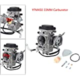 Carrfan Carburateur Carb pour Yamaha Grizzly 450 YFM450 4WD 2007-2014