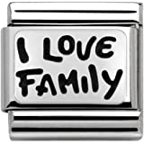 Nominación Unisex Charm 925 Silver - 330102/34, Me encanta la familia