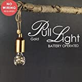 Decostar LED Leuchte Kenan gold Ø5,5cm H15cm 7xLED Batteriebetrieben 759297