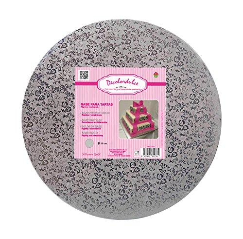 �Basis Kuchen, Carton und Rolle, silber, 25x 25x 3cm (Kuchen Karton Base)