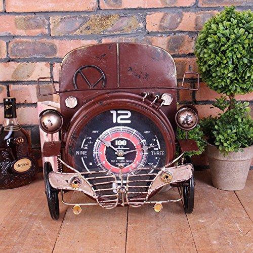 Cnbbgj in stile americano e creativo di antiquariato classico ferro tridimensionale di orologio da parete, auto parete decorazione, mute orologi e orologi da parete, 10 pollici orologio da parete