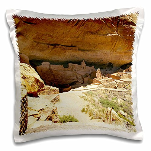 Edmond Hogge Jr - Countrys - Mese Verde Ruins - 16x16 inch Pillow Case (pc_214684_1)