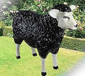Dekofigur schwarzes Schaf Anton bunte Schafe Tier Figuren für Haus und Garten