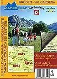 libro Gröden - Val Gardena 1 : 200 000 Luftbildpanorama & Wanderkarte: Südtirolkarte mit Ausflugszielen