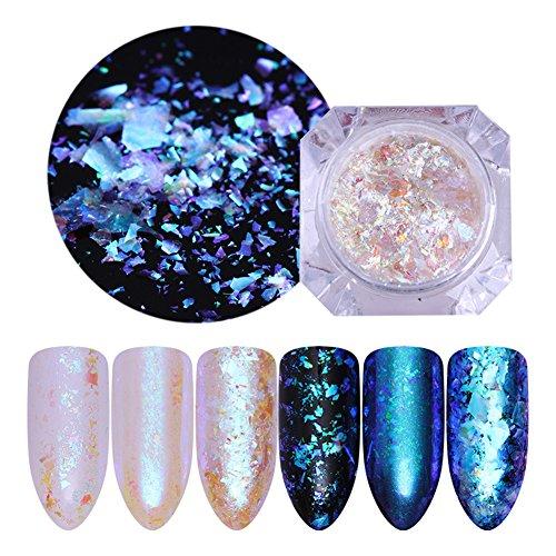 NICOLE DIARY 1 Box Transparent Chameleon Nail Sequins Irregular Flakies Manicure Nail Art Glitter Paillette Decoration