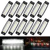 ambother 12pcs luces laterales lámpara lateral intermitente 6LEDs coche bombilla luz de posición indicador Tourner señal para vehículos coche camión caravana DC 12V/24V