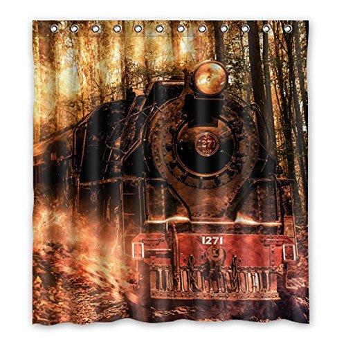 """167 centimetri x183 cm (66 """"x72"""") Bagno Doccia Tenda, universale Locomotiva retro di modo personalizzato Background Design tenda di acquazzone impermeabile"""
