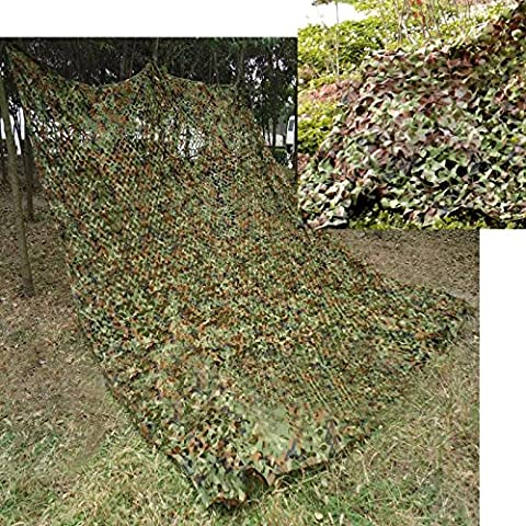 Hunting Camouflage camo net, TechCode 2m x 4m Camo netting x for Army Shooting Camping Military Hunting Hide Woodlands jungle, Desert, Camo Tape