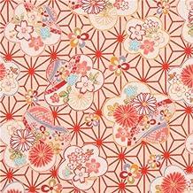 Tela dobby crema textura flor cerezo colores Sakura de Japón