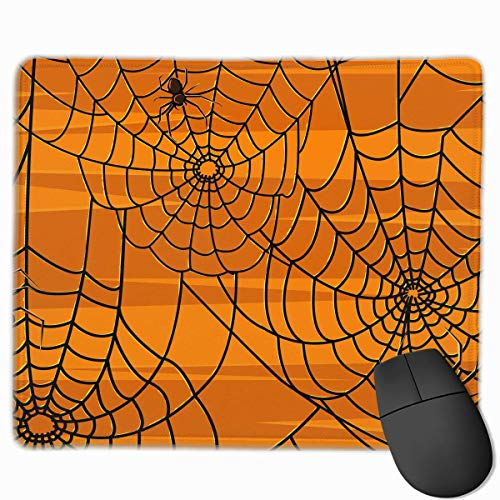 ctangle Non-Slip Rubber Gaming Mousepad (Scary Halloween Spiders Graphics, 11.81 X 9.84 Inch) ()