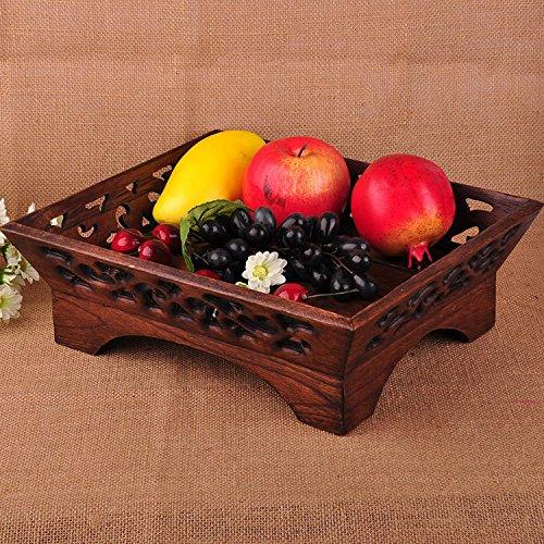 Preisvergleich Produktbild WANG-shunlida Kreativ hochwertige Holz Obst Obst Fach vintage Holz- Wohnzimmer Couchtisch
