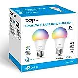 TP-Link Tapo- Bombilla LED Inteligente, Bombilla WiFi, Multicolor, Regulable, E27, 8.7W 806lm, Compatible Alexa, Echo y Googl