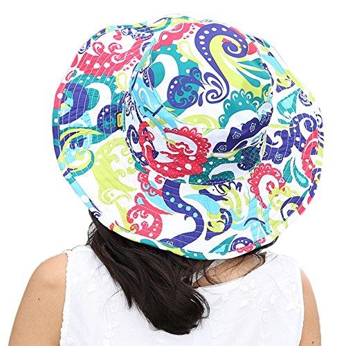 Leisial Femme Capeline Casquettes visières en Toile Anti-soleil Respirant Pliable Chapeau à large bord chapeau de soleil pour été plage Loisir Voyage Bleu