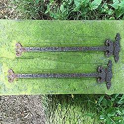 Antikas - 2 bisagras medievales - bisagras como antiguas para colgar puertas contraventanas - bisagras de hierro oxidado