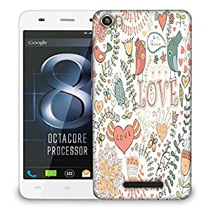 Snoogg Love Colorful Birds Designer Protective Phone Back Case Cover For LAVA IRIS X8