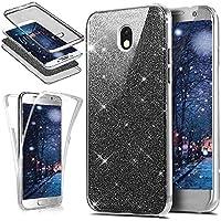 Galaxy J3 2017 Hülle,KunyFond Galaxy J3 2017 Silikon Hülle 360 Grad Fullbody Case Bling Sparkle Glänzend Glitzer... preisvergleich bei billige-tabletten.eu